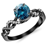 Black Promise Rings For Her - Wedding and Bridal Inspiration