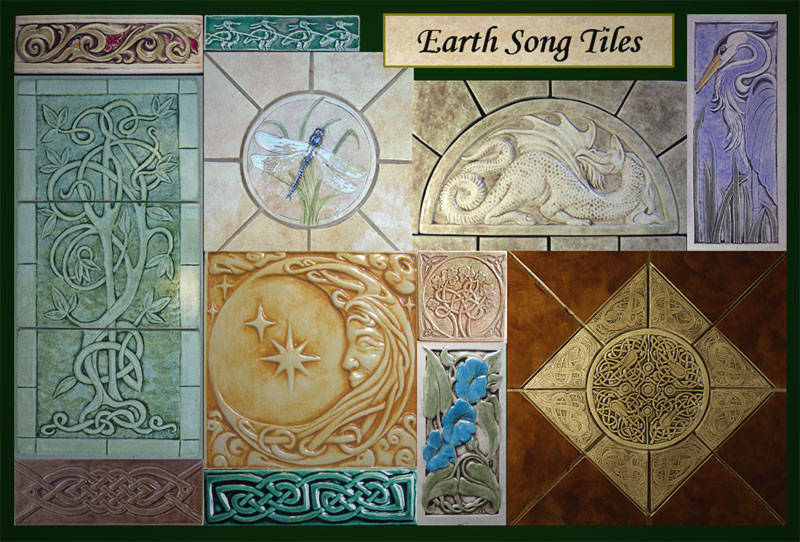 handmade ceramic art tiles