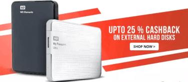 Paytm External Hard Disk Cash Back