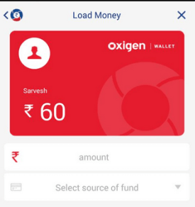 add money oxigen