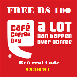 Cafe Coffee Day Free Rs 100