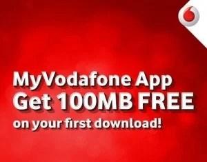 my vodafone app free 100 mb