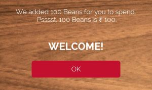 Free Rs 100 Cafe Coffee Day EARTICLEBLOG