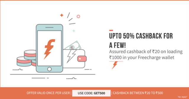 freecharge add money cashback coupon code latest earticleblog free recharge