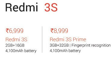 redmi 3s prime price in india