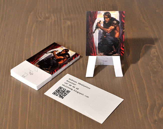 Easel Business Cards