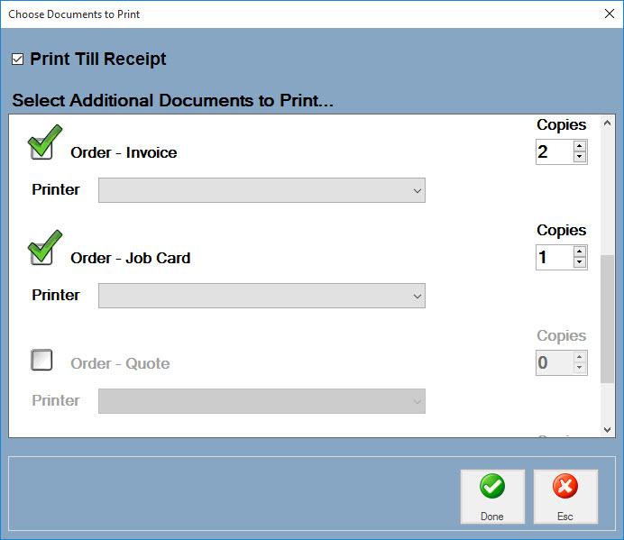 Easify Help - EPOS - Printing Receipts  Other Paperwork