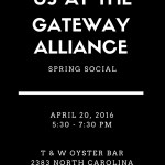 You're Invited to the Gateway Spring Social