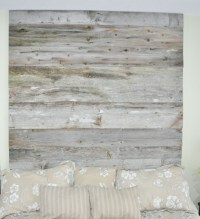 Reclaimed Wood Headboard DIY Installation - Made From Real ...