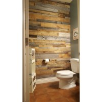 DIY Reclaimed Wood Accent Wall Grey and Natural Brown ...