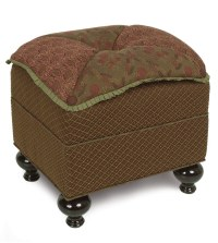 Luxury Bedding by Eastern Accents - AMELIE PILLOW TOP OTTOMAN