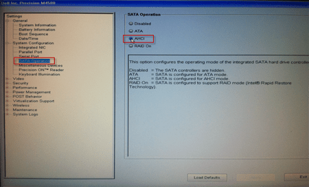 How To Set The Sata Operation Mode In The Bios Setup