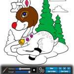 screen shot of Christmas: coloring book