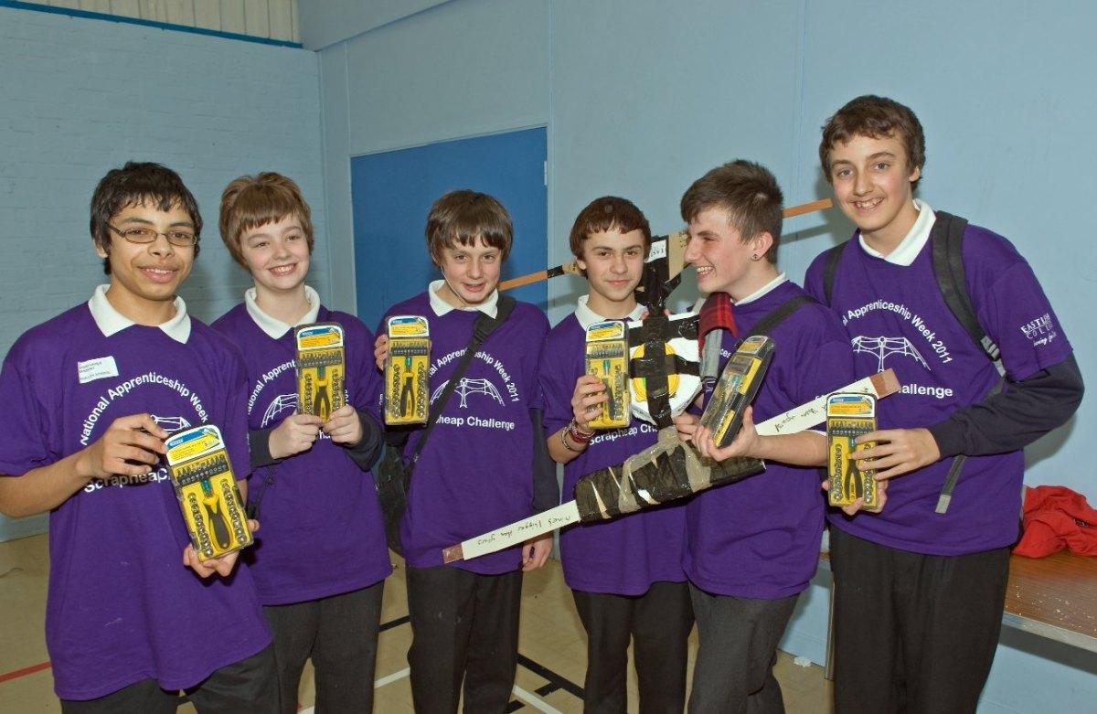 Pupils take part in Scrapheap Challenge