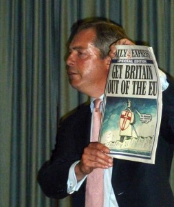 Nigel Farage Daily Express