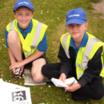 Junior PCSO's learn beat skills and investigate a crime scene