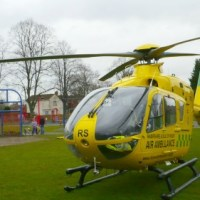 Air ambulance called to Allbrook Way crash
