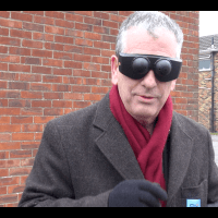 MP Mike walks Eastleigh blindfolded