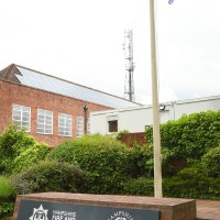 Eastleigh Police and Fire HQ Flies LGBT flag