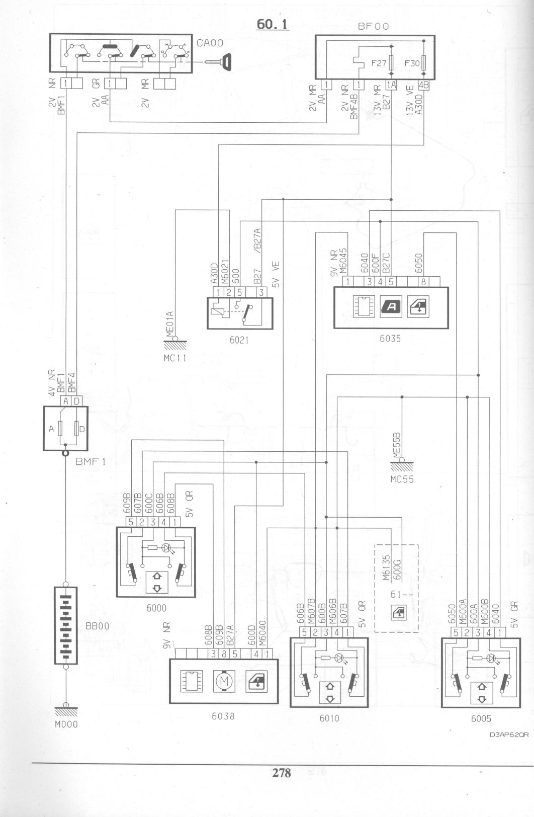citroen xm v6 wiring diagram