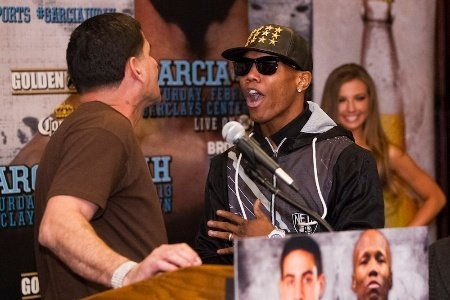 Angel Garcia argues with Zab Judah
