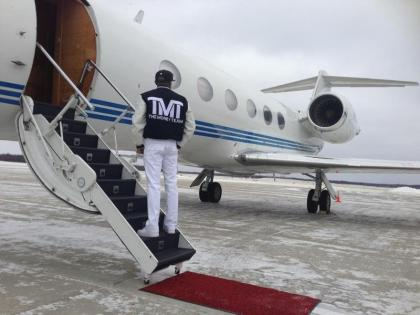 Floyd Money Mayweather arrives in Michigan for Saturday nights Bundrage vs. Smith World Championship fight