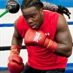 Photos: Heavyweight Bermane Stivernes media workout