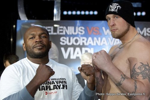 1HeleniusWilliams Helenius vs Williams weights from Helsinki