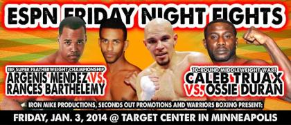 Espn2 Friday Night Fights kicks off the season from Minneapolis at the Target Center