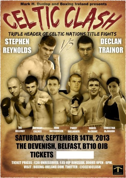 Stephen Block Reynolds Fights For Celtic Title On Sept 14