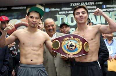 Donaire Arce weighin 121214 001a Donaire vs Arce Weigh In Results  Video