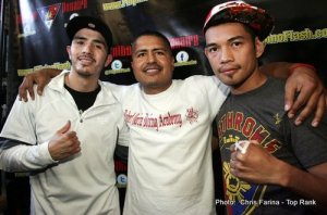 The Pugilist KOrner: Robert Garcia, Sugar Hill, Thomas Dulorme, Sam Garcia, and Bruno Escalante