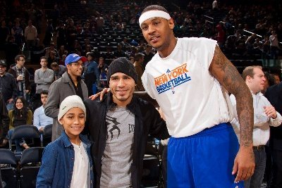 Photos: Miguel Cotto at NY Knicks Game