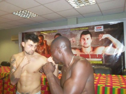 Opalach, Samson ready for battle in Accra after weigh in
