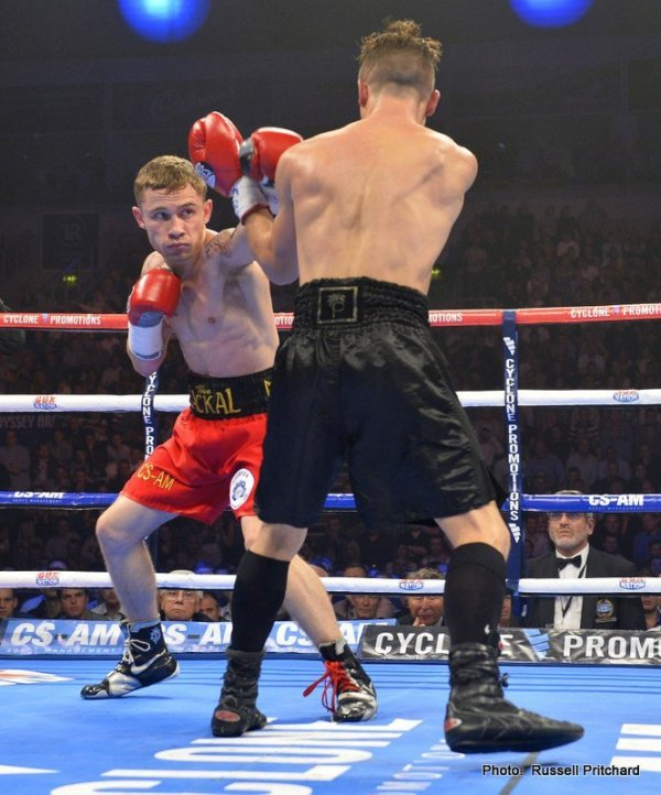 Cyclone Promotions presents Boxing at The Odyssey Arena. 12 x 3 Minute rounds IBF World Title Eliminator and European Title Defence between Carl Frampton (Belfast) and Jeremy Parodi, (France)