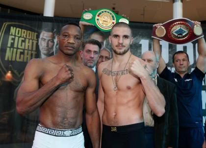Video: Skoglund, Mock make weight ahead of EU Light Heavyweight Title Fight