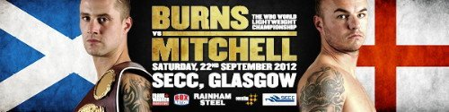 Burns defends WBO lightweight strap against Mitchell on 9/22