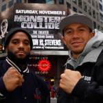 Golovkins vs Stevens: Times Square and MSG Workout Photos / Videos