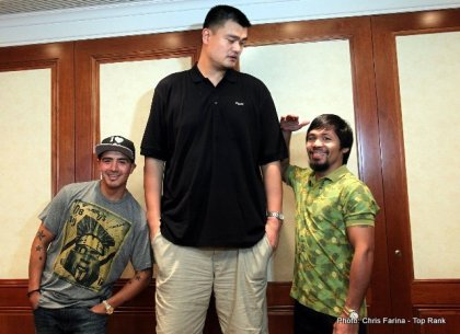 Yao Ming, Pacquiao, Rios and Roach in Shanghai
