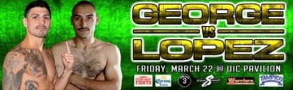 Don George   David Lopez on 3/22 at the UIC Pavilion in Chicago, Illinois