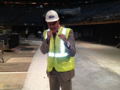 Gerry Cooney checks out MSG Transformation