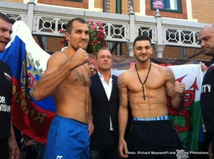 Video from Cardiff: Nathan Cleverly 174, Sergey Kovalev 173