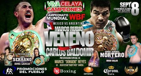 rubio baldomir Rubio vs. Baldomir For WBF World Title