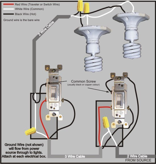 House Wiring 3 Way Switch Diagram Wiring Diagram