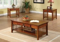 3 Piece Mission Style Coffee Table Set