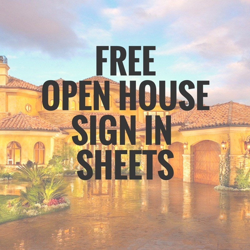 Open House Sign In Sheet Printable Templates (Free  Ready For Use)