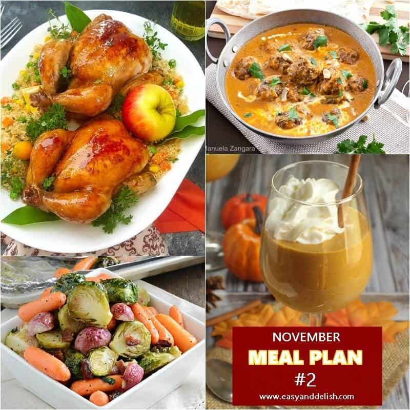 November Monthly Meal Plan - #2 - Easy and Delish