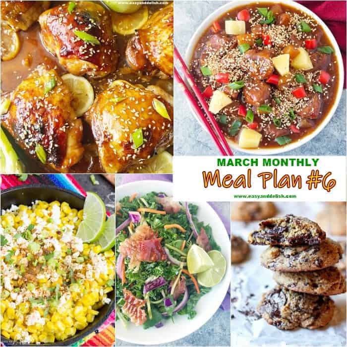 March Monthly Meal Plan - #6 - Easy and Delish
