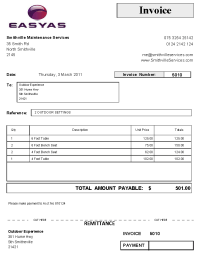 Small Business Invoices and Invoice Logos using EasyAs ...