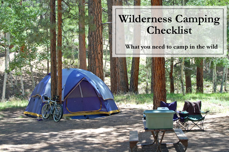 Checklist For Wilderness Camping | Sample Nursing Assistant Resume